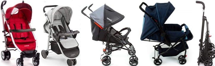 diferente modelos de carrinho de bebê
