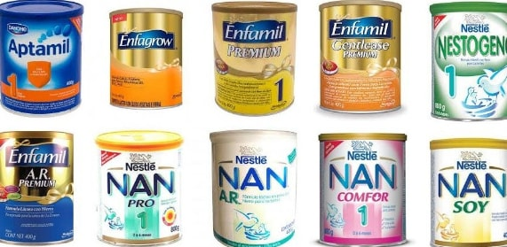 Tipos de leite em pó fórmula infantil