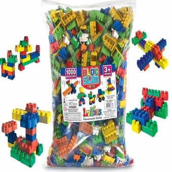 Blocos de montar 1000 peças Monte Fácil Brinquedo Educativo – Luctoys