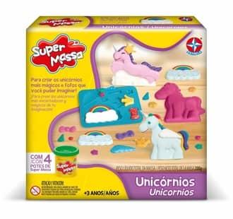 melhor brinquedo para bebe e crianças - Super Massa Unicornio Estrela