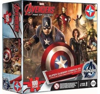 Super Quebra-Cabeça 3D Avengers 100 peças