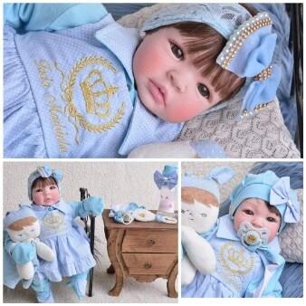 melhores bonecas para o bebê ou criança Boneca Reborn Menina