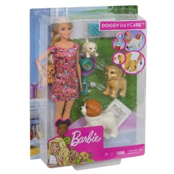 Boneca Barbie Treinadora de Cachorrinhos Mattel