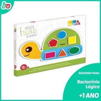 Brinquedo Criativo de Madeira Encaixa Tartaruga – Babebi