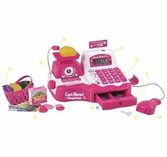 Caixa Registradora Infantil com microfone luz e sons com esteira