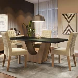 A melhor mesa de jantar de 4 cadeiras