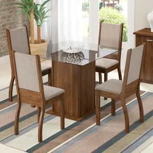 Opção de mesa de jantar em vidro tradicional