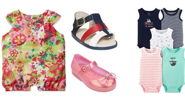 roupas e sapatos para o bebê