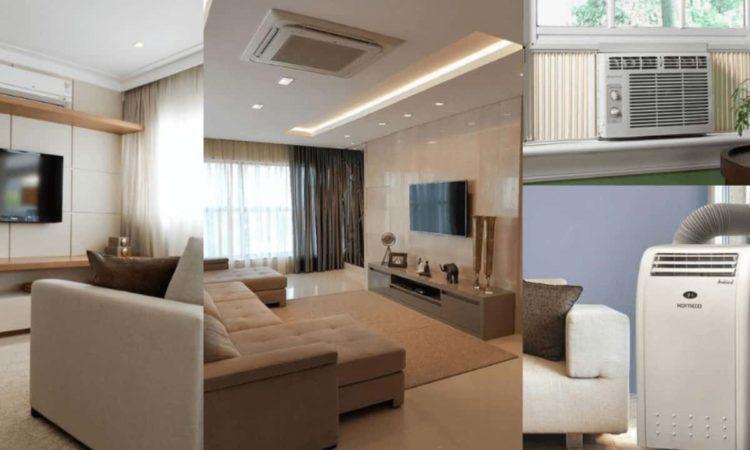comparações entre os tipos de ar-condicionados e duto