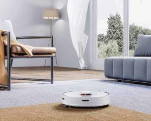 robô aspirador no chão casa