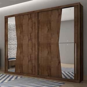 Novo Horizonte Geom C/Espelho 2 Portas Canela