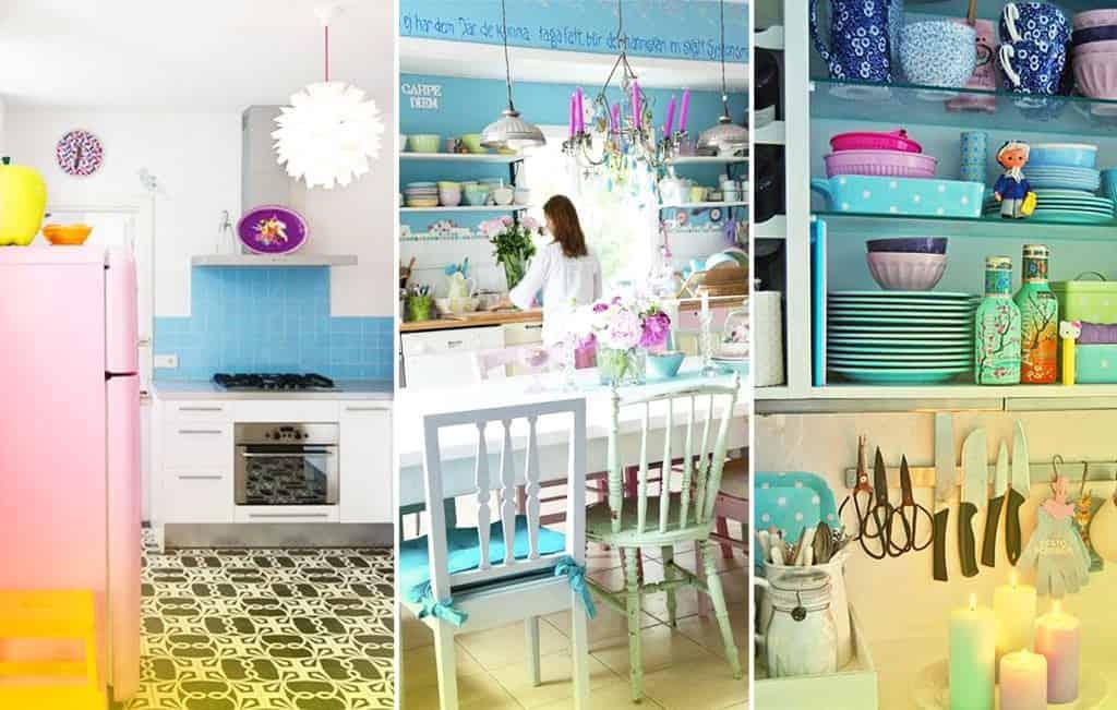 Os utensílios domésticos nos quartos