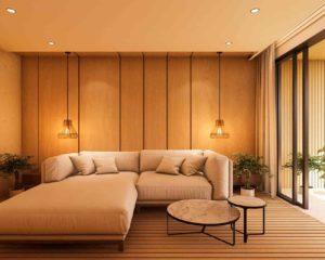 Iluminação residencial luz amarela
