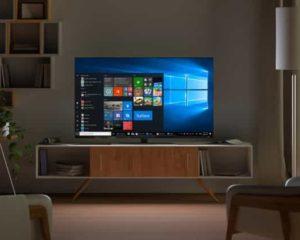 smart tv monitor em casa