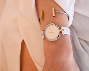relógio de pulso, mulher, moda