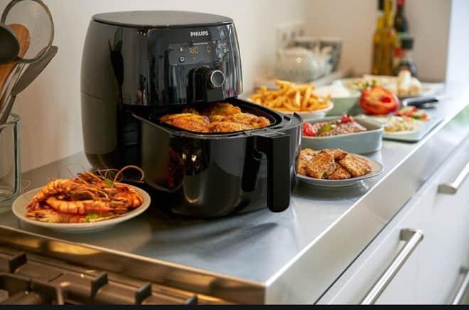 airfryer com nuggets, refeições prontas