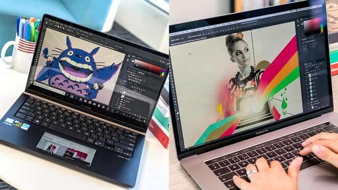 notebook para designer usado por profissional