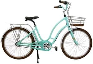 Bicicleta Retrô Vintage Antonella Aro 26 Verde Acqua, Nathor