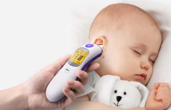 usar termometro digital com bebê