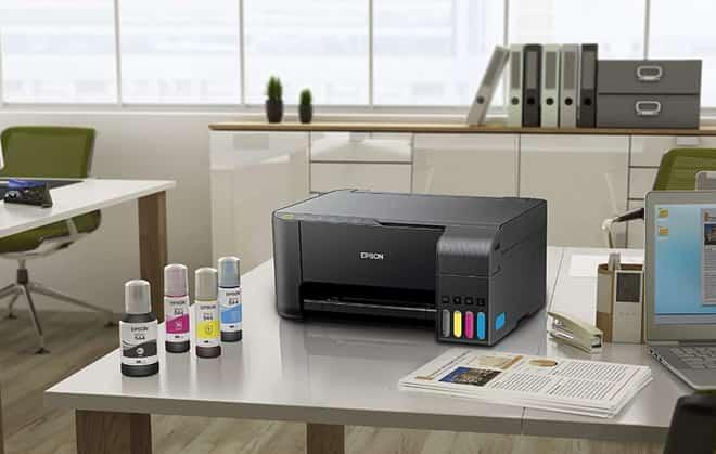 uma impressora epson em escritório