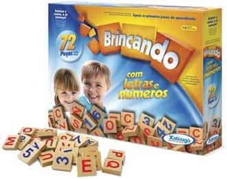 Brincando com letras e números Xalingo
