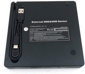 Gravador externo de CD/DVD USB 3.0 Type-C