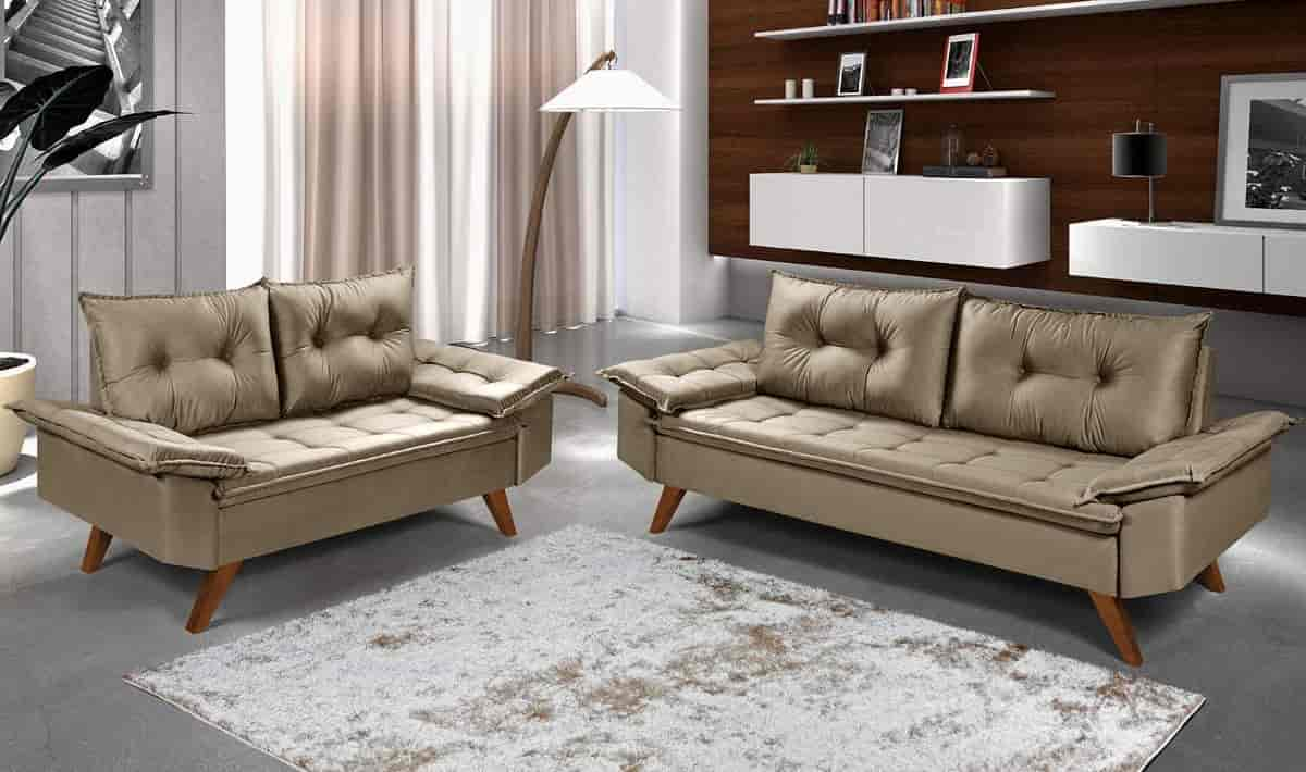 conjunto de sofás. tapete de sala