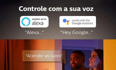 controle por voz alexa, google