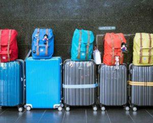 5 malas de viagem e 5 mochilas