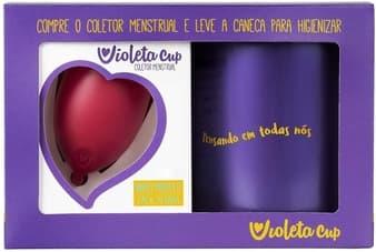 Kit Coletor Menstrual Violeta Cup Tipo B