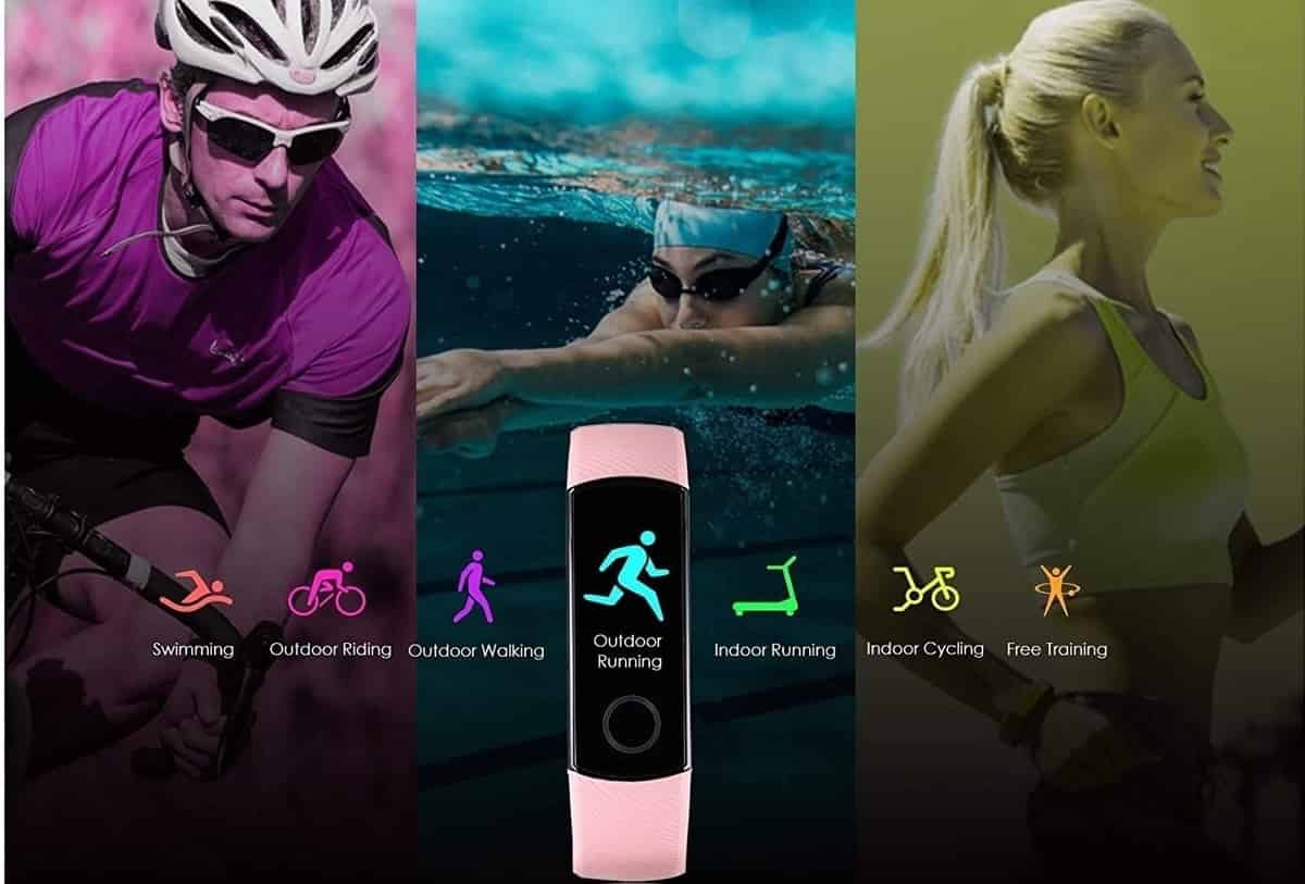 smartband para corridas, ciclismo, nadar