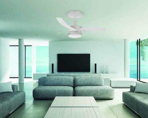 ventilador de teto em sala de estar