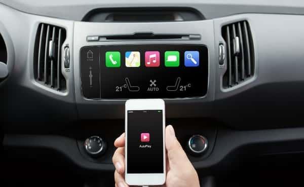 conectar iphone com som para carro