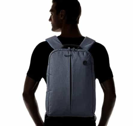 tamaño de la bolsa en la espalda