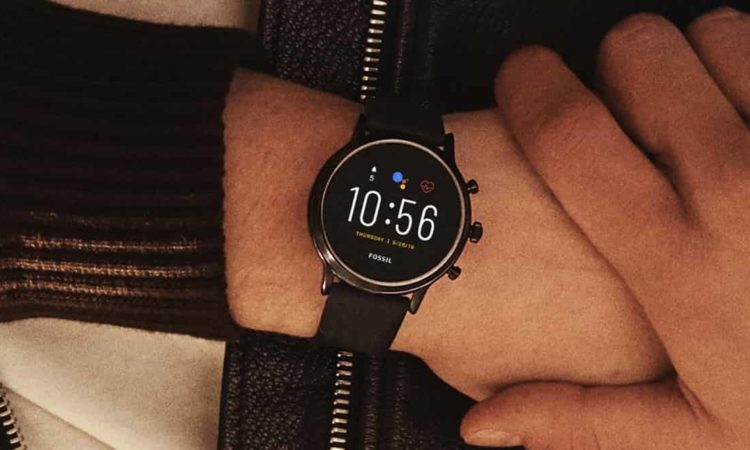 smart watch fossil no pulso