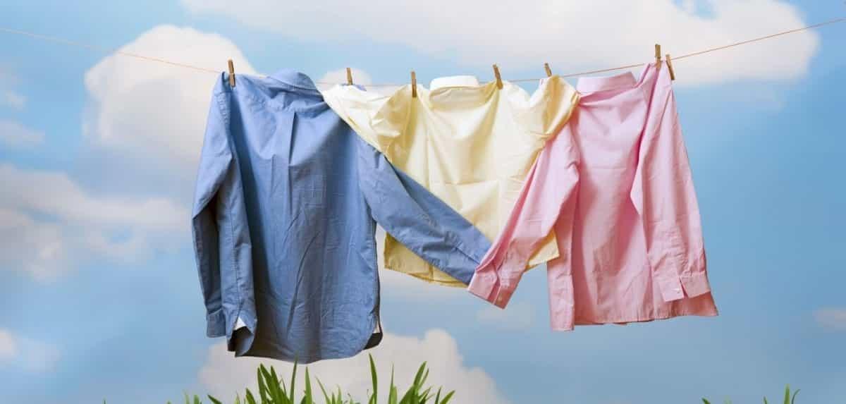 roupas lavadas com produtos que amaciam