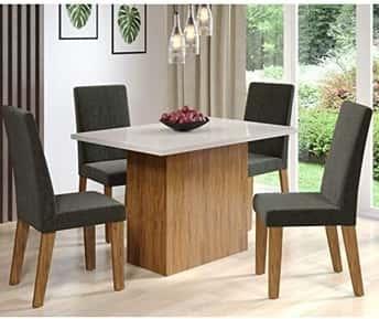 Conjunto Mesa de Jantar com Mesa 4 Cadeiras Espresso