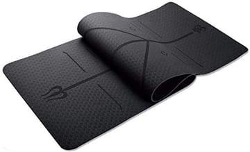 Tapete para Yoga TPE 6mm Linhas Corporais Preto