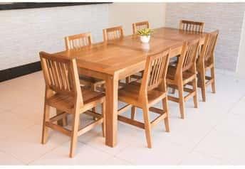 Mesa de Jantar Mineirinha Com 8 Cadeiras Confort