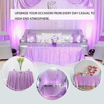Toalha de Mesa de Lantejoulas Romântica de Casamento
