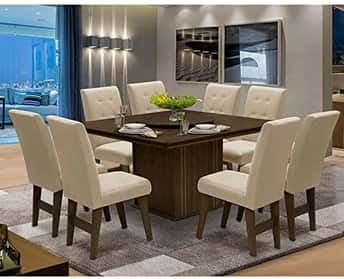 Conjunto de Mesa de Jantar com 8 Cadeiras Esparta