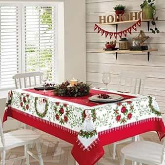 Toalha de Mesa Retangular Estampada Natal Genebra