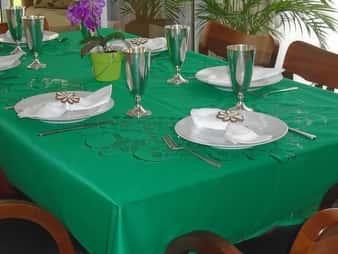 Toalha de Mesa de Fibra de Coco Retangular 8 Lugares