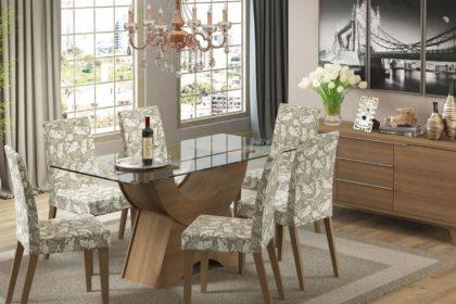 mesa de jantar vidro, quadrada