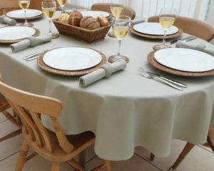 toalha de mesa oval