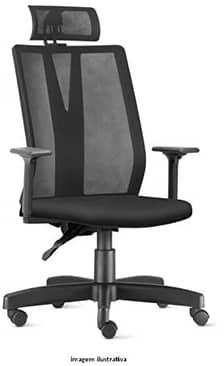 Cadeira de Escritório Presidente Addit Apoio Cabeça Frisokar