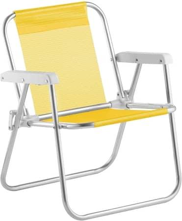 Cadeira de Praia Infantil Beach Kids Alumínio Amarelo