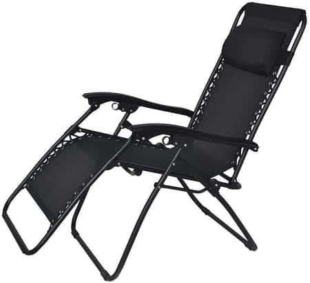 Cadeira Reclinável Trançada Preta 9147 Mor