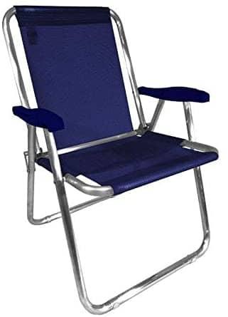 Cadeira de Praia Zaka Max Alumínio Azul Marinho