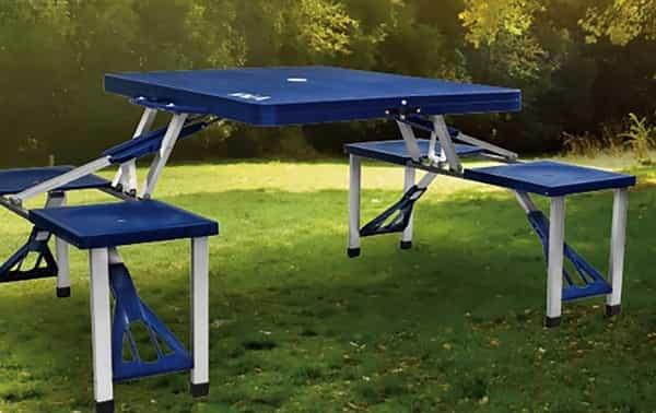 Dimensão da mesas dobráveis